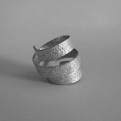 Sterling Silver 'Tagliatelle' Ring