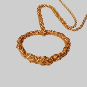 XXL 18K Yellow Gold Pendant Necklace