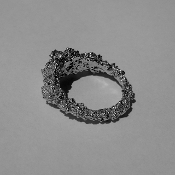 'Mare Nostrum' Black Rhodium and Sterling Silver Ring